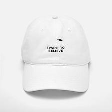 I Want To Believe Baseball Baseball Cap