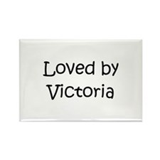 Cute Victoria name Rectangle Magnet