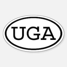 UGA Oval Oval Decal