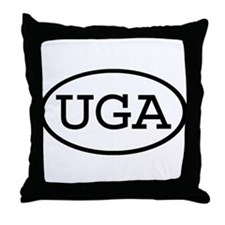 UGA Oval Throw Pillow