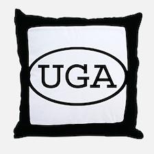 UGA Oval Throw Pillow