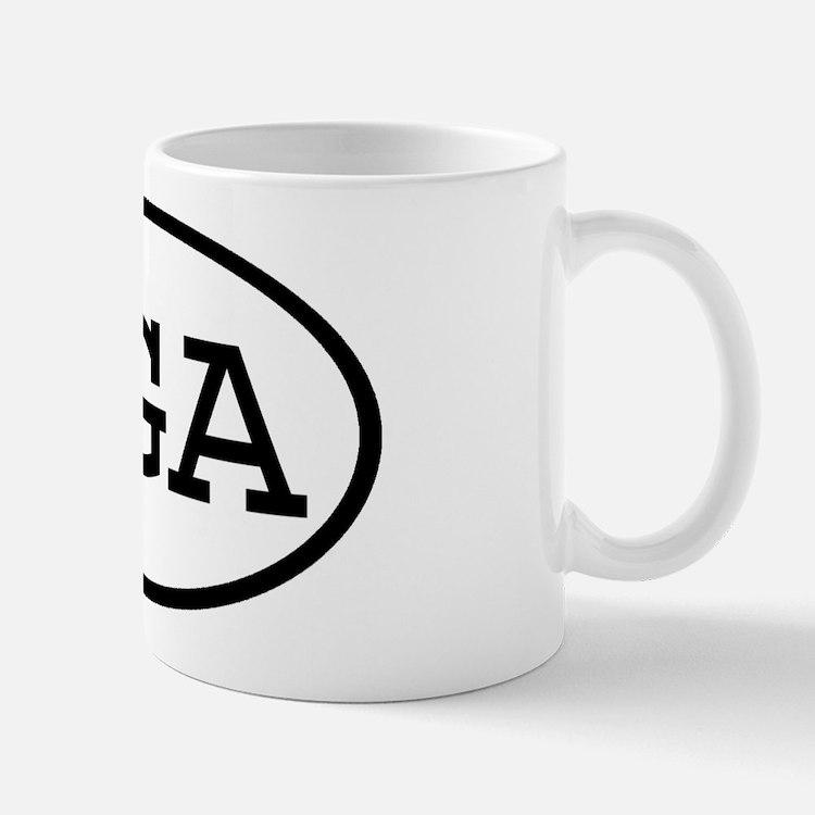 UGA Oval Mug