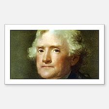 Thomas Jefferson Rectangle Sticker 10 pk)