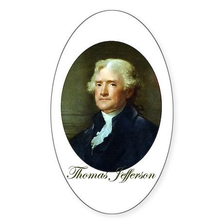 Thomas Jefferson Oval Sticker (10 pk)