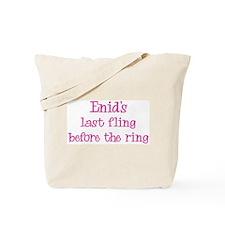 Enids last fling Tote Bag