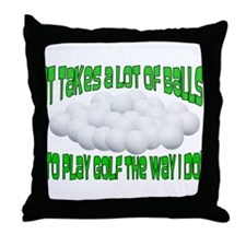 A Lot of Balls Throw Pillow