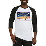 XmasSunrise/Collie (s&w)#1 Baseball Jersey