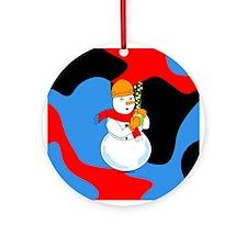 Snowman Chemist Ornament (Round)