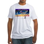 XmasSunrise/Chihuahua #5 Fitted T-Shirt