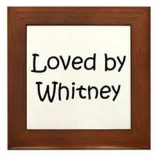 Cute Whitney Framed Tile
