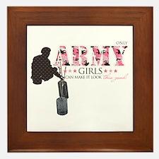 Army Girls (Make It Look Good) Framed Tile