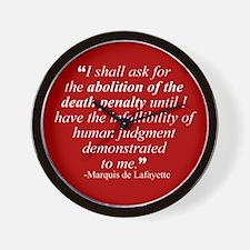 Abolish death penalty. Wall Clock