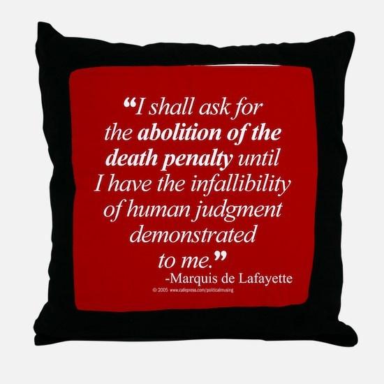 Abolish death penalty. Throw Pillow
