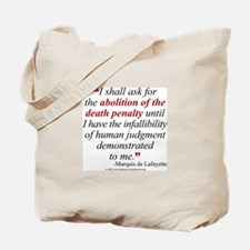Abolish death penalty. Tote Bag