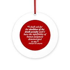 Abolish death penalty. Keepsake (Round)
