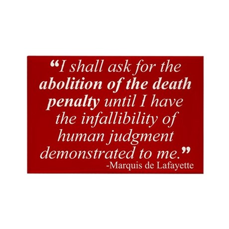 Abolish death penalty. Rectangle Magnet (100 pack)