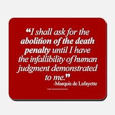 Abolish death penalty. Mousepad