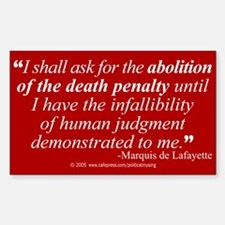 Abolish death penalty. Rectangle Decal