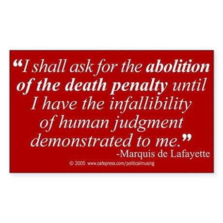 Abolish death penalty. Rectangle Sticker