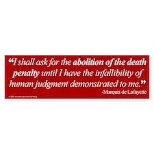 Abolish death penalty. Bumper Bumper Bumper Sticker