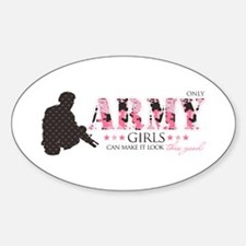 Army Girls (Make It Look Good) Oval Decal