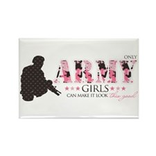 Army Girls (Make It Look Good) Rectangle Magnet