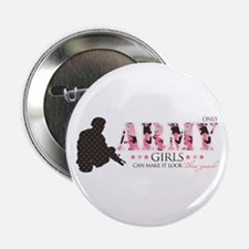 "Army Girls (Make It Look Good) 2.25"" Button"