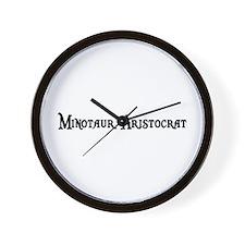 Minotaur Aristocrat Wall Clock