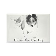 Future Therapy Dog Rectangle Magnet