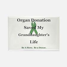 Granddaughter Transplant Rectangle Magnet