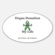 My Transplant Oval Sticker (10 pk)