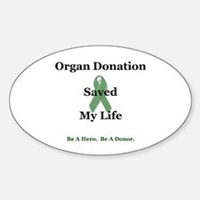 My Transplant Oval Decal