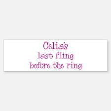 Celias last fling Bumper Bumper Stickers