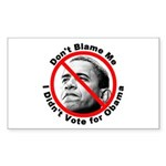 Anti Obama Don't Blame Me Rectangle Sticker 10 pk