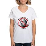 Anti Obama Don't Blame Me (Front) Women's V-Neck T