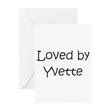 Cute Yvette Greeting Card