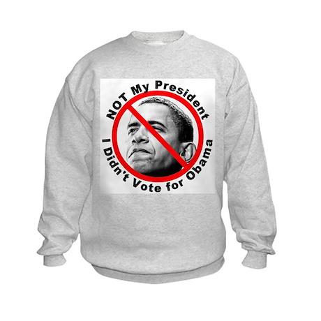 Anti Obama Not My President (Front) Kids Sweatshir
