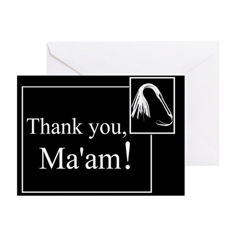 Thank You Ma'am Greeting Cards (Pk of 10)