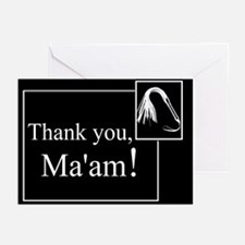 Thank You Ma'am Greeting Cards (Pk of 20)
