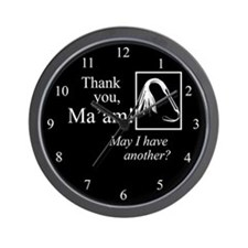 Thank You Ma'am Wall Clock
