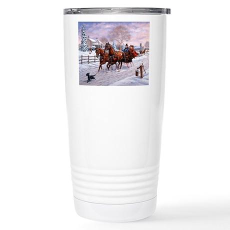 Sleigh Ride Stainless Steel Travel Mug
