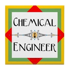 Chemical Engineer Line Tile Coaster