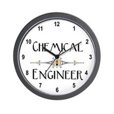 Chemical Engineer Line Wall Clock