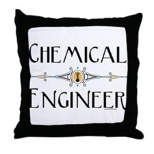 Chemical Engineer Line Throw Pillow
