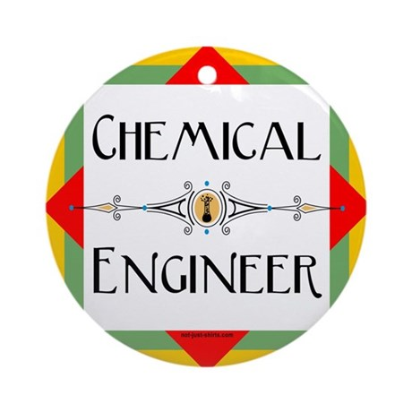 Chemical Engineer Line Ornament (Round)