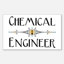 Chemical Engineer Line Rectangle Decal