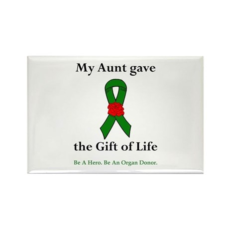Aunt Donor Rectangle Magnet