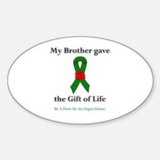 Brother Donor Oval Decal