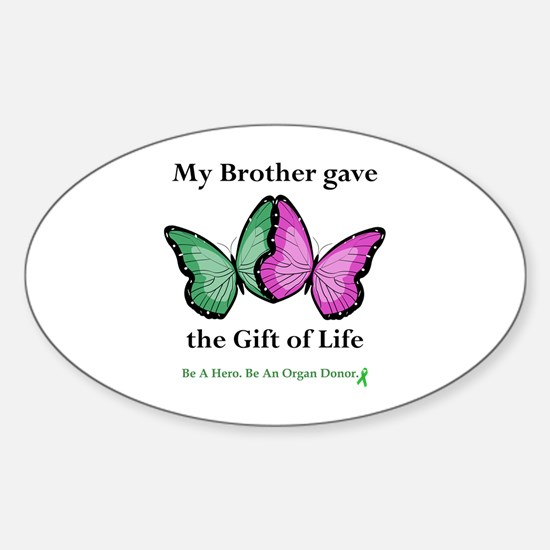 Brother Gift Oval Bumper Stickers