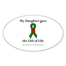 Daughter Donor Oval Decal
